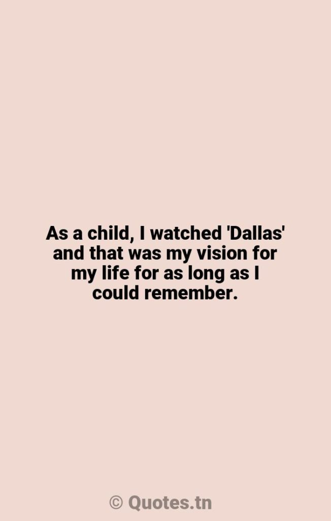 As a child